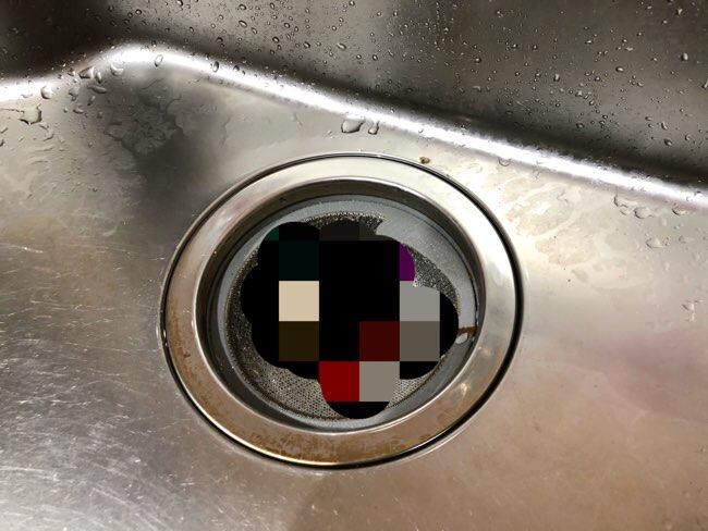 シンクの排水口