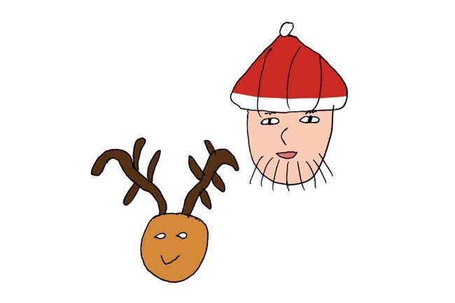 サンタさんとトナカイ
