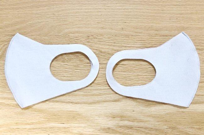 同じタイプのマスクだと家族で区別不可