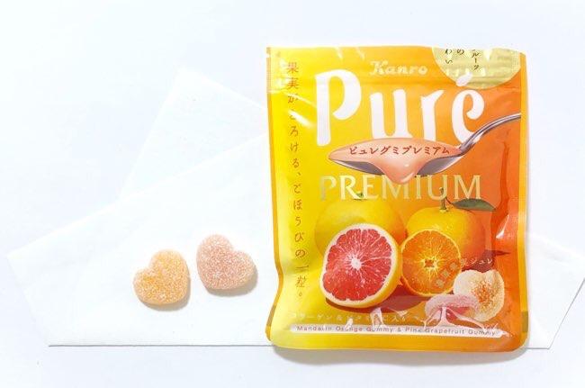 ピュレグミプレミアムみかん&ピンクグレープフルーツ