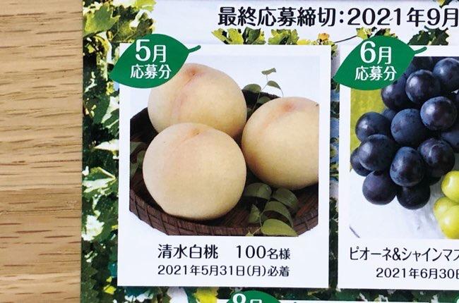 果汁グミキャンペーン5月応募分