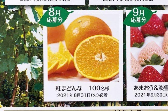 果汁グミキャンペーン8月応募分